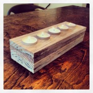 Creare un centrotavola e candele con un pallet1