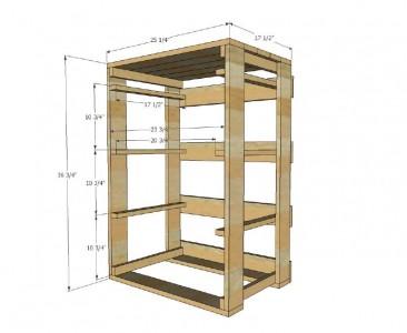 I piani e le istruzioni per costruire un cassetto per il bucato2