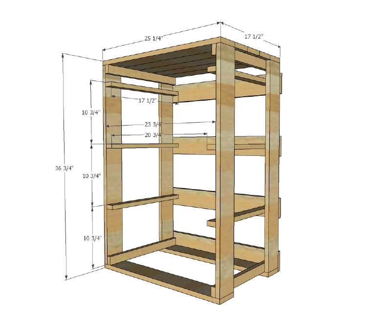 I piani e le istruzioni per costruire un cassetto per il - Costruire un mobile in legno ...