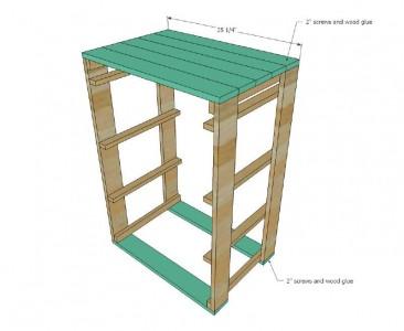 I piani e le istruzioni per costruire un cassetto per il bucato5