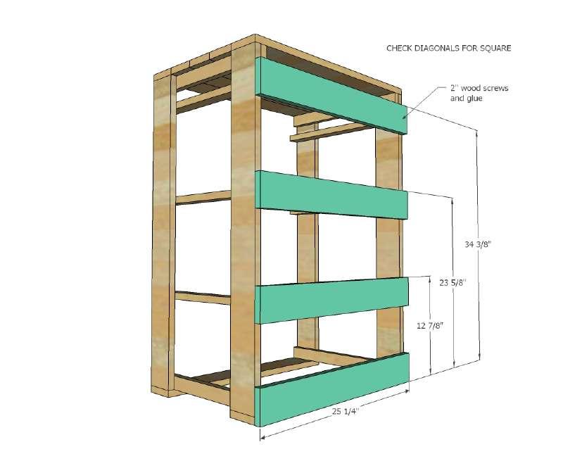 I piani e le istruzioni per costruire un cassetto per il for Costo per costruire un armadio in una camera da letto