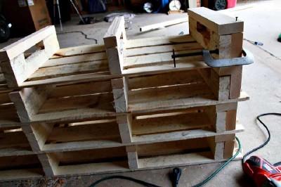 Istruzioni passo passo per costruire una scarpiera utilizzando pallets15