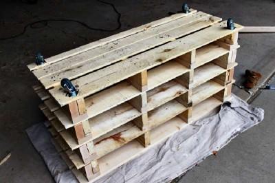Istruzioni passo passo per costruire una scarpiera utilizzando pallets19