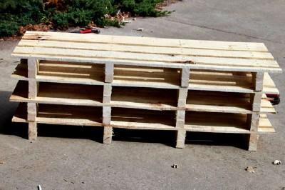 Istruzioni passo passo per costruire una scarpiera utilizzando pallets6