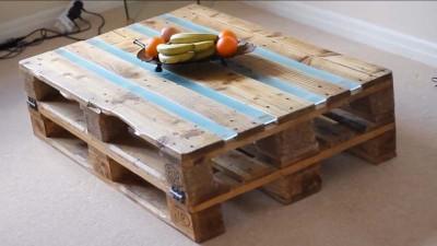 Istruzioni video di come fare un tavolo con 2 pallets7