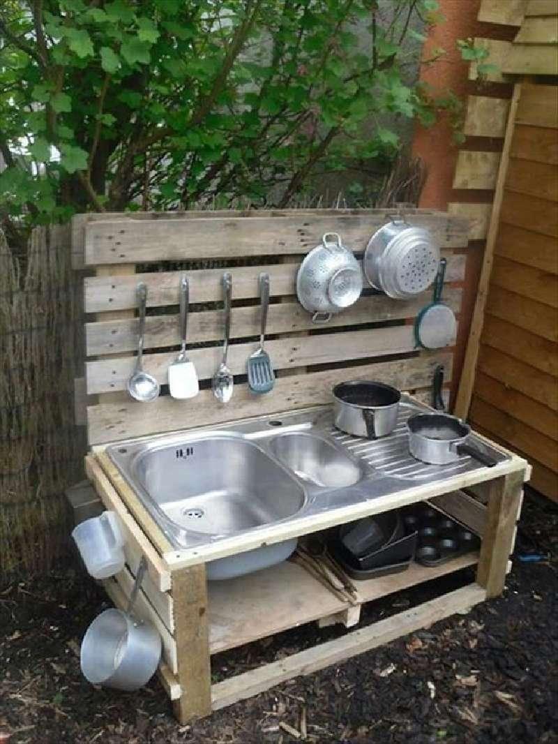 Le Istruzioni Per Costruire Una Cucina Gioco Con Palletmobili Con