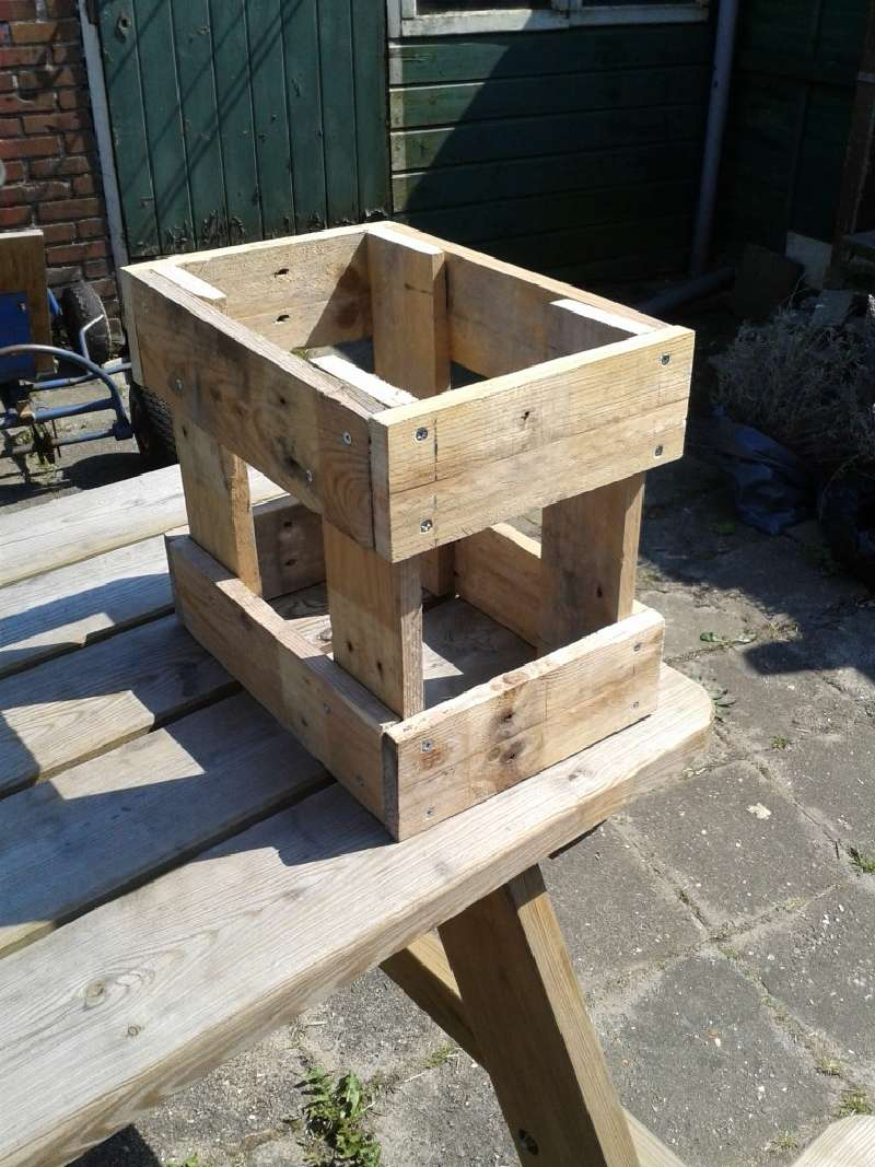 Le istruzioni per costruire uno sgabello con palletmobili for Costruire uno scuro in legno