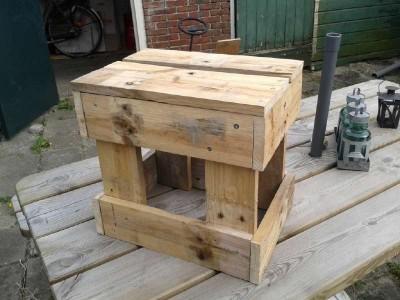 Le istruzioni per costruire uno sgabello con pallet3