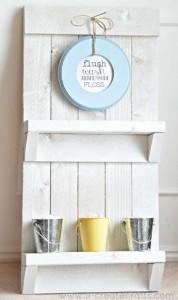 Le istruzioni per creare un rack mobili pallet per il bagno