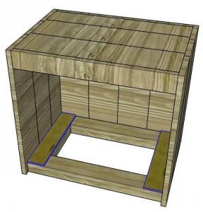 Le istruzioni su come costruire un comodino con pallet 13