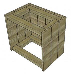 Le istruzioni su come costruire un comodino con pallet 3