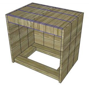 Le istruzioni su come costruire un comodino con pallet 7