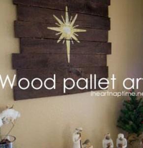 Le istruzioni su come fare un murale in legno di Natale con pallet1