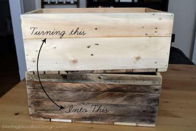 Le istruzioni su come fare una scatola di pallet di stoccaggio1