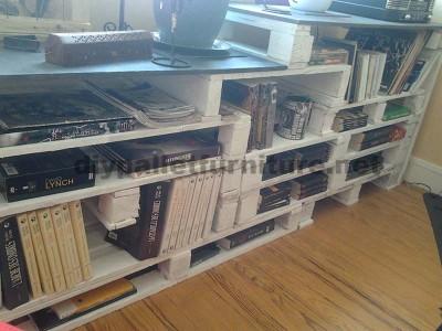 Libreria design realizzato con pallet5
