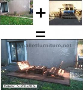 Migliora il tuo giardino con solo alcuni pallet di legno1