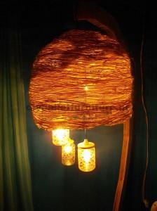 Struttura della lampada costruita utilizzando schede di pallet1