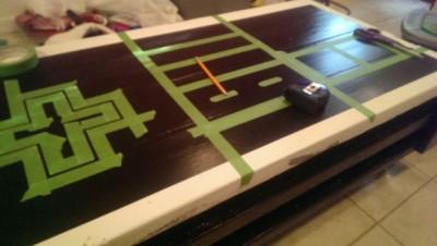 Un pallet tavolo NES, realizzato con 2 pallet10
