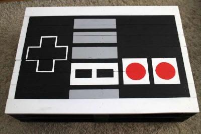 Un pallet tavolo NES, realizzato con 2 pallet2