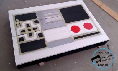 Un pallet tavolo NES, realizzato con 2 pallet6