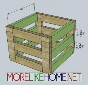 Una scatola bella fatta di assi di pallet5
