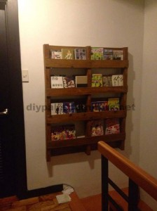magazine rack made with just one pallet