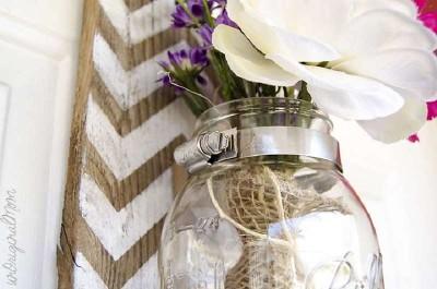 Costruire un vaso appeso con i pallet per la vostra porta di casa1