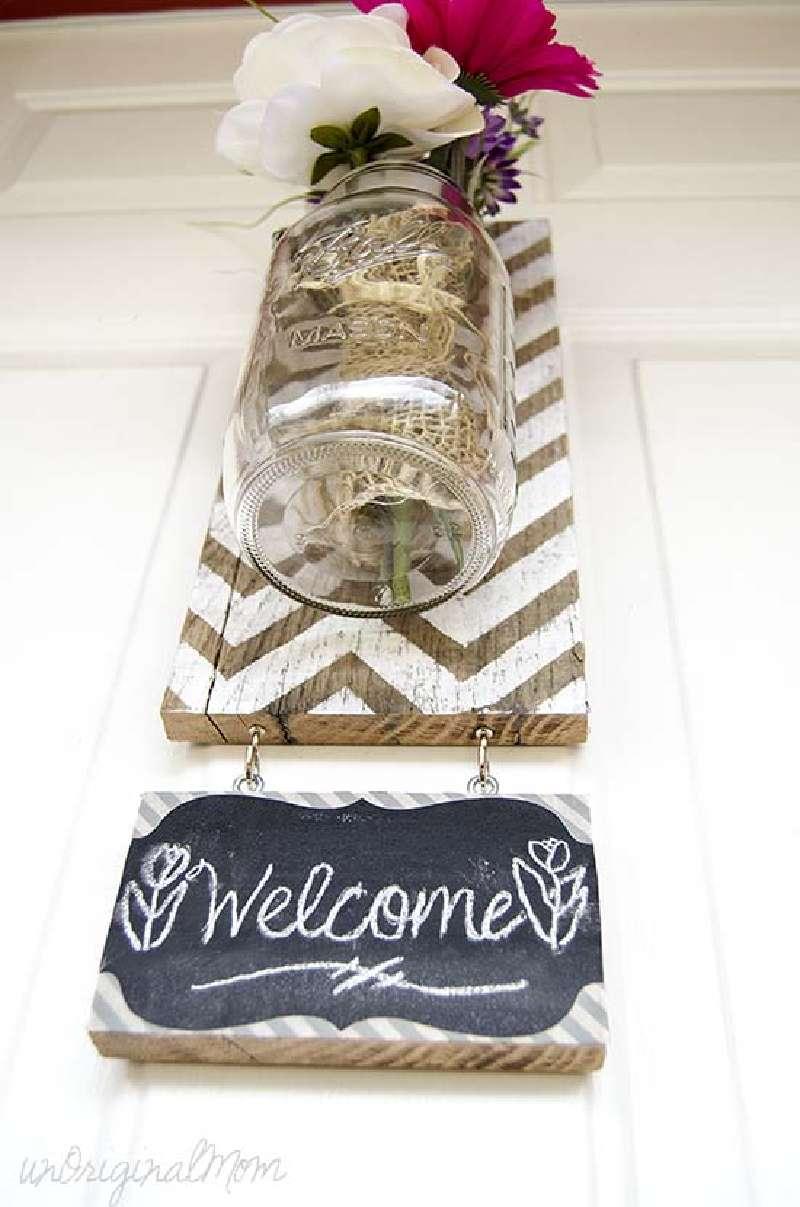 Costruire un vaso appeso con i pallet per la vostra porta for Mobilia lavagna