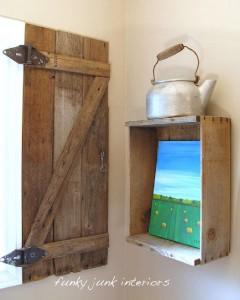 Costruire una persiana rustica per il vostro bagno con tavolo pallet 10