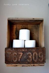 Costruire una persiana rustica per il vostro bagno con tavolo pallet 12