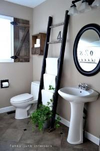 Costruire una persiana rustica per il vostro bagno con tavolo pallet 13