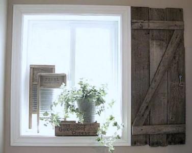 Costruire una persiana rustica per il vostro bagno con tavolo pallet 2