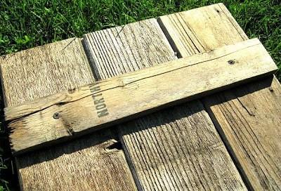 Costruire una persiana rustica per il vostro bagno con tavolo pallet 7