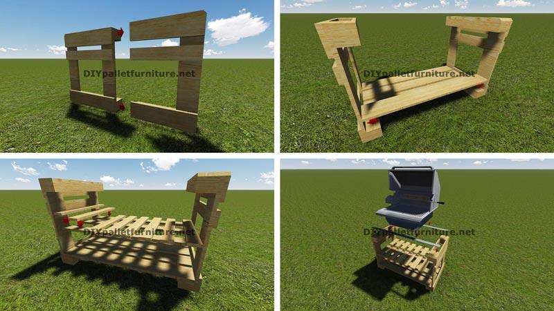 Famoso Istruzioni e piani per costruire un barbecue con i pallet passo  HS57