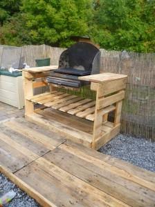 Istruzioni e piani per costruire un barbecue con i pallet passo dopo passo 2