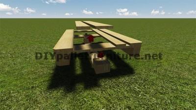 Istruzioni e piani per costruire un barbecue con i pallet passo dopo passo 3