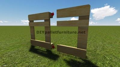Istruzioni e piani per costruire un barbecue con i pallet passo dopo passo 4
