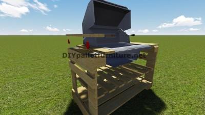 Istruzioni e piani per costruire un barbecue con i pallet passo dopo passo 8
