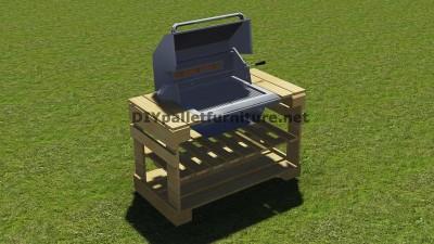 Istruzioni e piani per costruire un barbecue con i pallet passo dopo passo 9