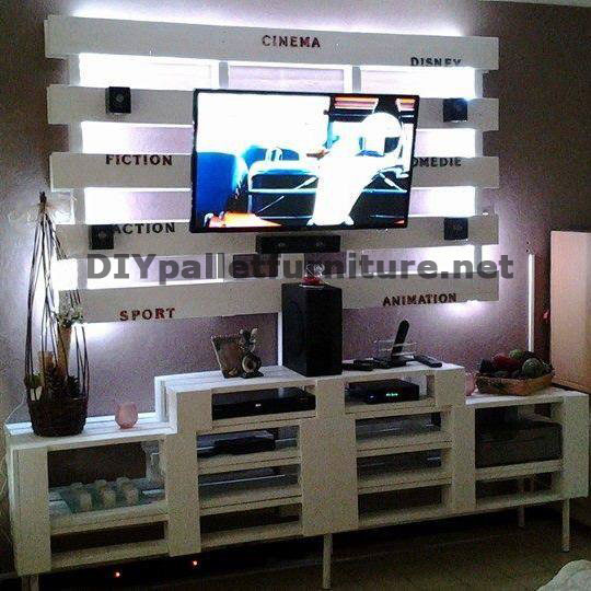 Mobile tv costruita con palletmobili con pallet mobili for Meuble tv avec roulettes