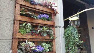 Arredo urbano con fioriere palletmobili con pallet for Jardin colgante palet
