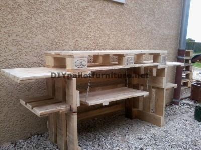 Cucina esterna con palletmobili con pallet mobili con pallet - Cucina muratura esterna ...