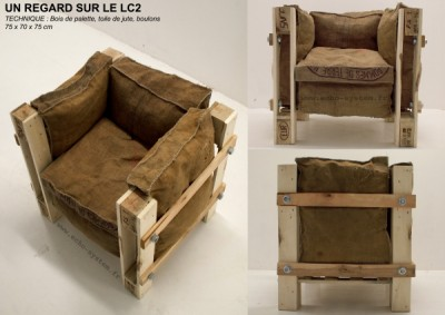 Design Poltrona realizzata con oggetti riciclati 3