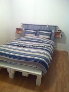 Fantastico letto con testiera costruito con 6 Europallet 3
