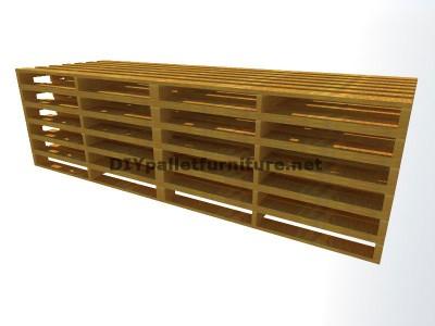 Guida passo passo per fare facilmente un divano con chaise-lungo con interi pallet 1