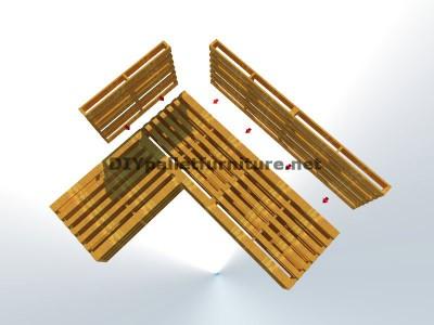 Guida passo passo per fare facilmente un divano con chaise-lungo con interi pallet 4
