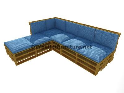 Guida passo passo per fare facilmente un divano con chaise-lungo con interi pallet 6