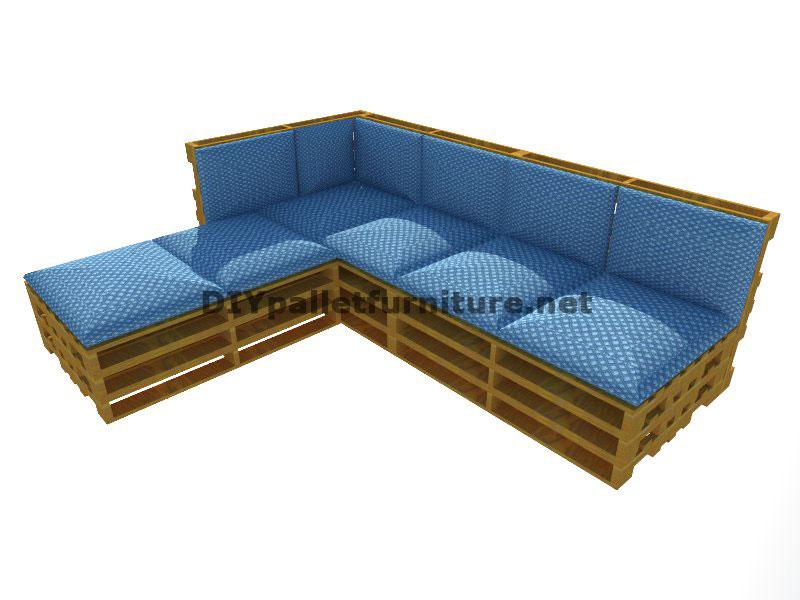 Guida passo passo per fare facilmente un divano con chaise lungo con interi palletmobili con - Un divano per dodici ...