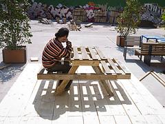 I piani per fare un tavolo da picnic e composter con pallet 1