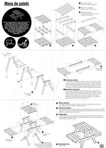 I piani per fare un tavolo da picnic e composter con pallet 2